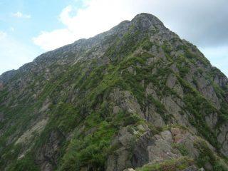 inizio della cresta nord