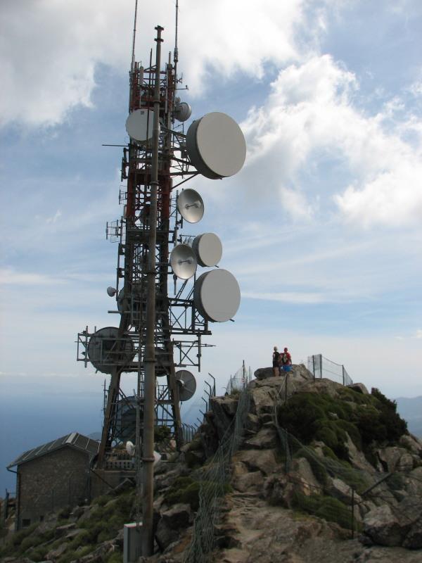 Le antenne in vetta a M.Capanne