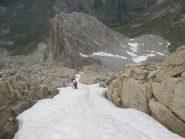 Ultima lingua di neve prima della cresta.