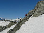 cengia di accesso al ghiacciaio