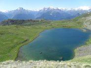 vista sul lago dalla traccia che conduce al colle