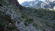 ultimo tratto del sentiero che porta al Refuge du Pelvoux (24-6-2011)