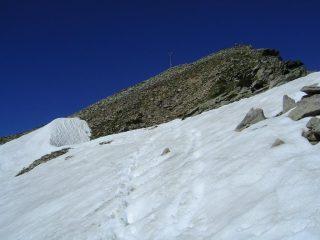 Nevaio residuo sull'ultimo tratto
