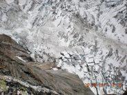 il ghiacciaio del Frêney dalla vetta