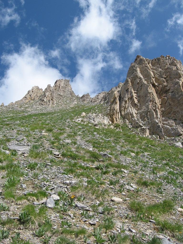 Grande (Becco) cima Ovest dal vallone di Marmora traversata Becco Nero e Cima di Test 2011-06-30