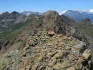 Da sx Orsiera, Gavia, Cristalliera, Rocca Nera e Malanotte, in primo piano la croce sulla seconda punta del Rocciavré