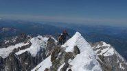 Arete du Brouillard - verso il Mont Blanc