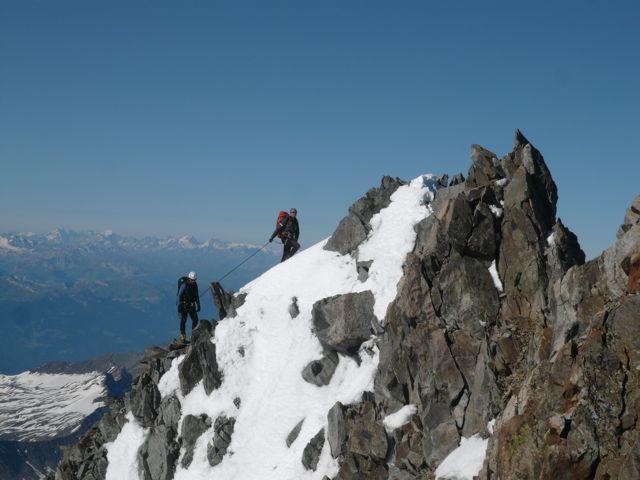 Menga e Alby in vetta al Mont Brouillard