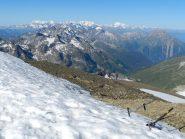 Dalla vetta verso la Valle d'Aosta