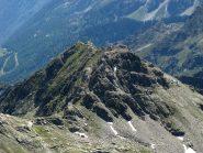 Punta Valnera dalla Valfredda: si vede il primo tratto di cresta per la Bocchetta di Eclou