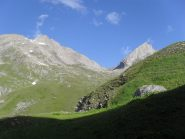 a sinistra ,la Rochere vista dall'alpe Bonale'