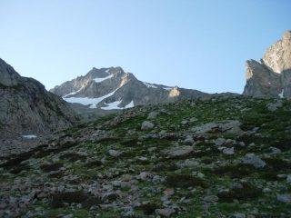 Il Monte Gelas dall'inizio del Vallone