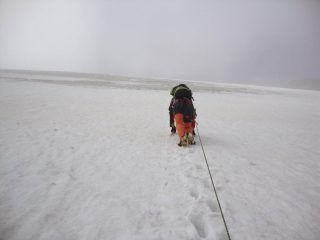 sul tratto a 50° subito prima del tratto ghiacciato