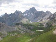 panorama dalla cima verso i laghi
