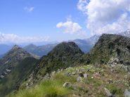 La cresta percorsa con il Monte Palino