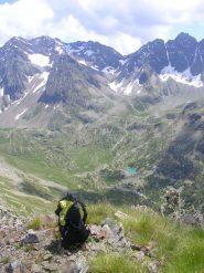 Il lago Painale visto dalla cima del Monte Cavaglia