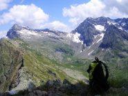 Dalla cima del Monte Cavaglia: il Pizzo Scalino, il passo Painale, il Monte Painale