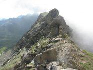 Il traverso sul versante nord di Cima del Rospo