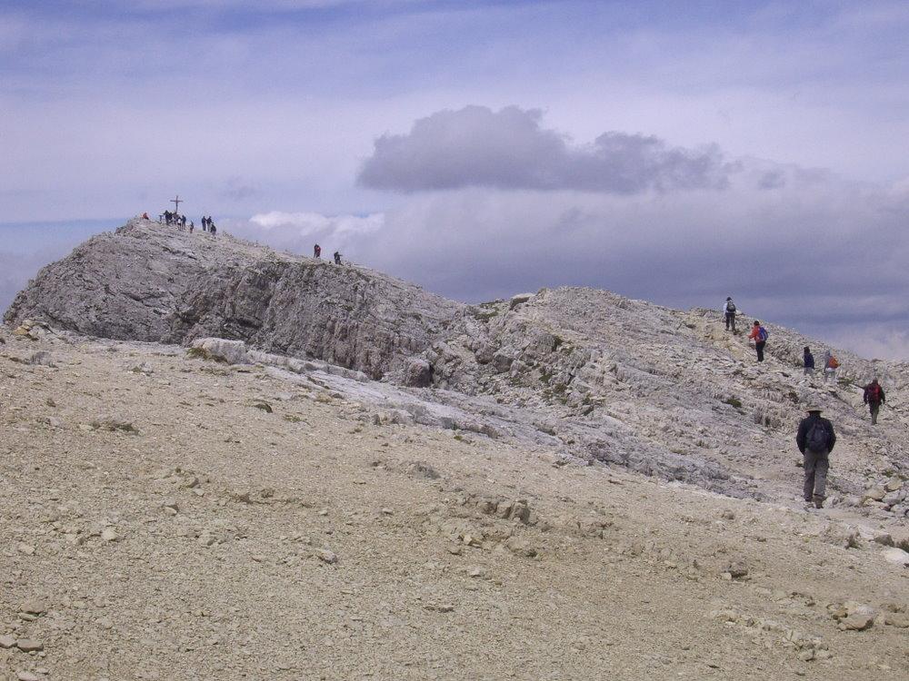 Lagazuoi Piccolo dal Passo del Falzarego per il Sentiero dei Kaiserjager 2011-07-19