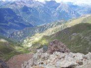 La conca del Selleries e la Val Chisone dalla vetta