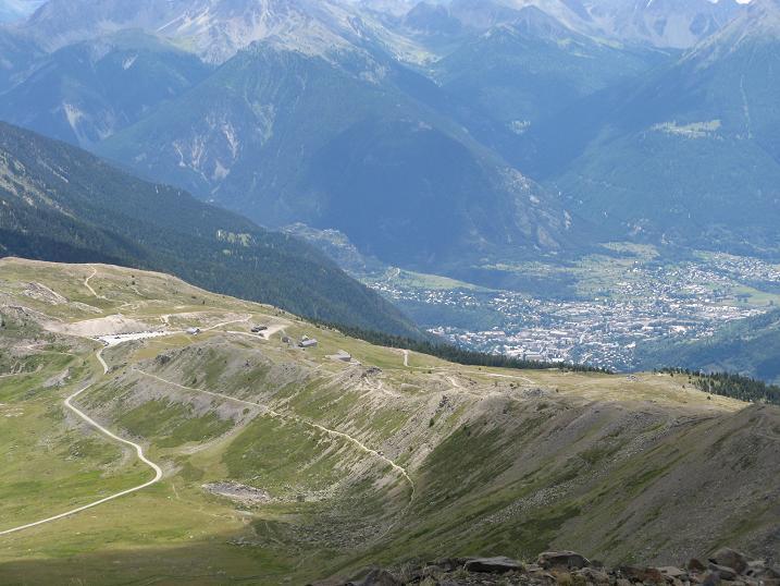 panoramica su Col Granon e su Briancon