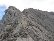 L'ultimo tratto prima della vetta del Barifreddo. Da tenersi sotto cresta lato Valle ARgentera