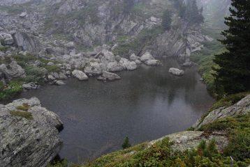 Nel nevischio, il Lago della Comba Sozin