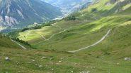 Strada verso Pian dell'Alpe....