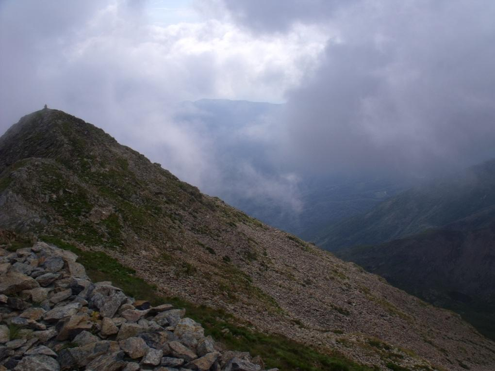 Dalla vetta veduta verso la Torretta del Prete