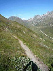 L'evidente itinerario in territorio Svizzero