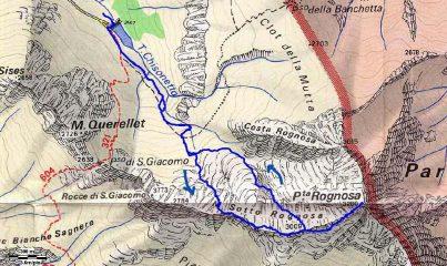 itinerario diverso dal passo s. Giacomo