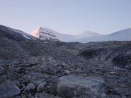 Il Brunegghorn; a dx la cresta di salita