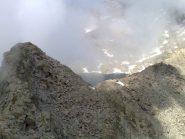 cresta nord-ovest verso la piata di Lazin