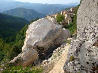 la frana della Palestra di roccia di Pietracamela
