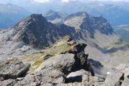 Visti dalla vetta: Col de Truche (o Col de Serre), La Lex Blanche, Passage de la Louie Blanche, Pointe Coloureures, Col Retour e Arete de la Roche Enverse