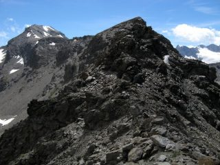 Punta Rosset e Gran Vaudala Nord dal Colle Rosset.