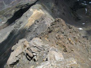 La cresta dalla Punta Rosset al Col Rosset.