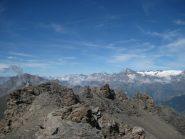 Le montagne della Vanoise dalla vetta