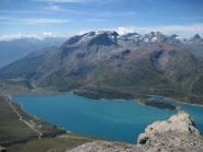 Il lago e le montagne della Valsusa dalla vetta