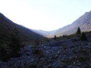 01 - mezzora dopo la partenza, arriva il sole sulla valle di Thures