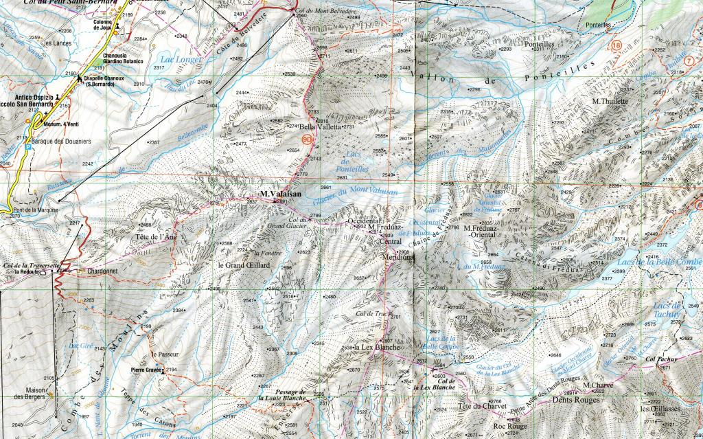 mappa area da l'escursionista 1/25.000, ediz. 2008