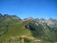 davanti Costabruna  e Muretto, dietro dal Rocciavrè al Villano