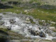 La piena del torrente all'Alpe Bruna di sopra