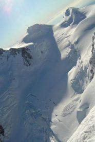 Vista dalla cima vs ghiacciaio grenz