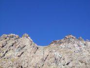 Le due cime dell'Orsiera dal lago Ciardonnet