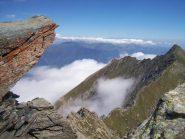 Dalla cima nord cresta spartiacque e P.ta Rocca Nera