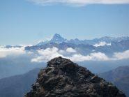 Dalla cima nord la cima sud perfettamente allineata al Monviso
