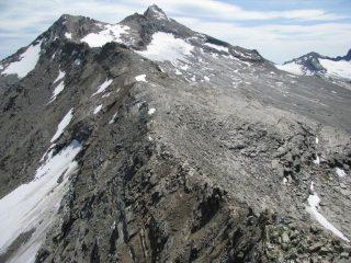 La cresta di salita
