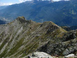 La cresta verso la Mulatera.