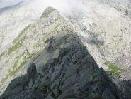 La pianeggiante cresta N-W della Punta Boiretto